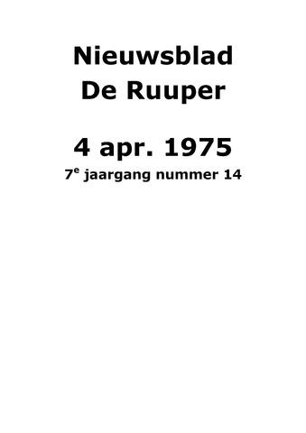 Dorpsblad Leunen-Veulen-Heide 1975-04-04
