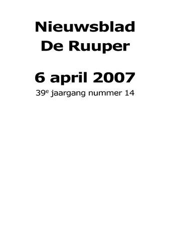Dorpsblad Leunen-Veulen-Heide 2007-04-06