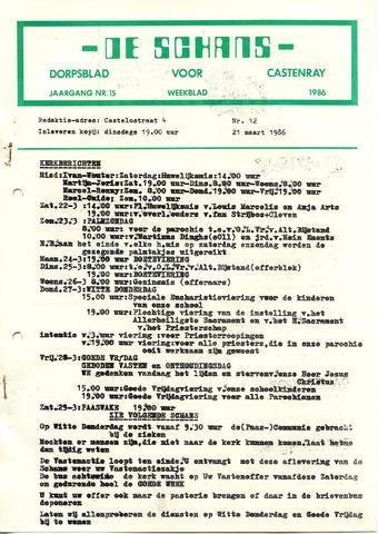 Castenrays dorpsblad De Schans 1986-03-21