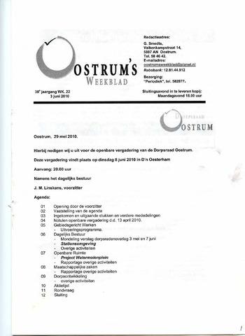 Oostrum's Weekblad 2010-06-03