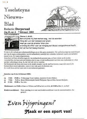 Ysselsteyns Nieuwsblad 2003-02-07