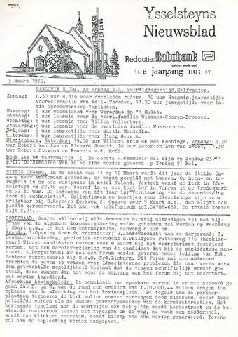 Ysselsteyns Nieuwsblad 1978-03-03
