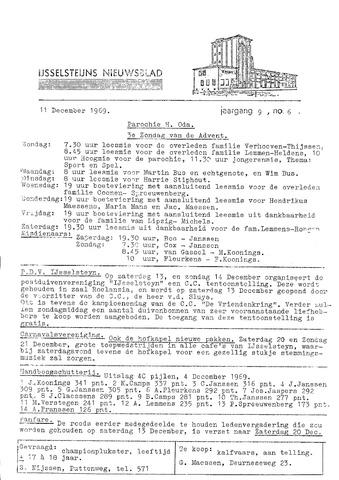 Ysselsteyns Nieuwsblad 1969-12-11