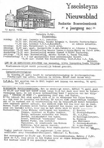 Ysselsteyns Nieuwsblad 1973-04-13