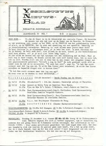 Ysselsteyns Nieuwsblad 1991-12-13