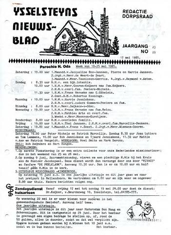 Ysselsteyns Nieuwsblad 1985-05-17