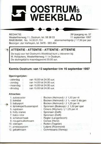 Oostrum's Weekblad 1997-09-11