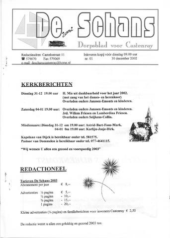 Castenrays dorpsblad De Schans 2002-12-30