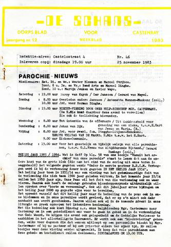 Castenrays dorpsblad De Schans 1983-11-25