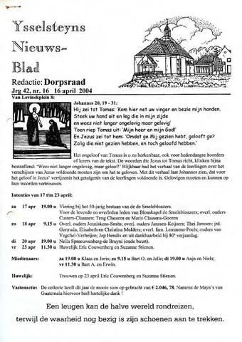 Ysselsteyns Nieuwsblad 2004-04-16
