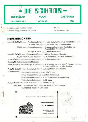 Castenrays dorpsblad De Schans 1986-09-12