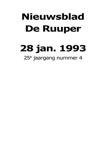 Dorpsblad Leunen-Veulen-Heide 1993-01-28