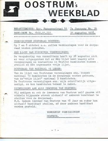 Oostrum's Weekblad 1978-08-31