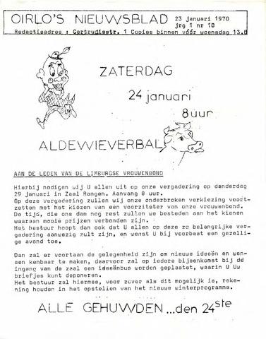 Oirlo's dorpsblad 't Krèntje 1970-01-23