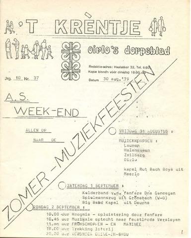 Oirlo's dorpsblad 't Krèntje 1979-08-30