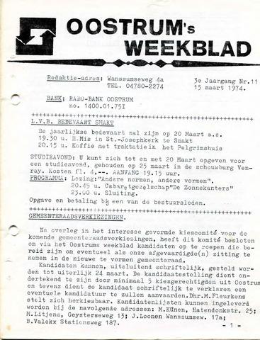 Oostrum's Weekblad 1974-03-15