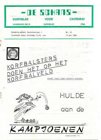 Castenrays dorpsblad De Schans 1986-05-16