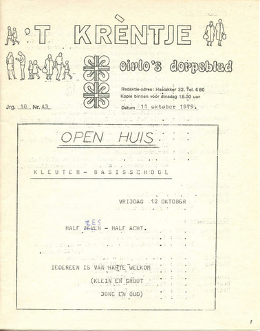 Oirlo's dorpsblad 't Krèntje 1979-10-11