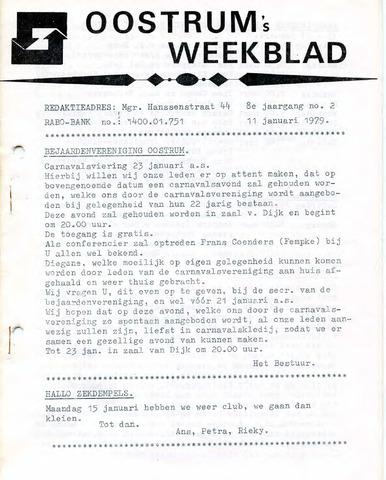 Oostrum's Weekblad 1979-01-11