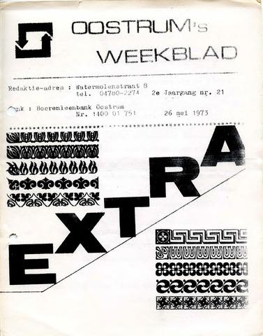 Oostrum's Weekblad 1973-05-26