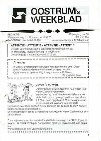 Oostrum's Weekblad 1994-07-28