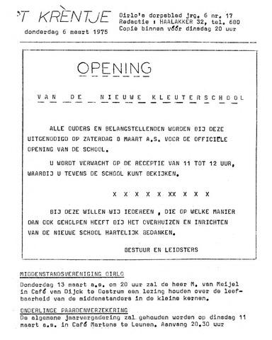 Oirlo's dorpsblad 't Krèntje 1975-03-06