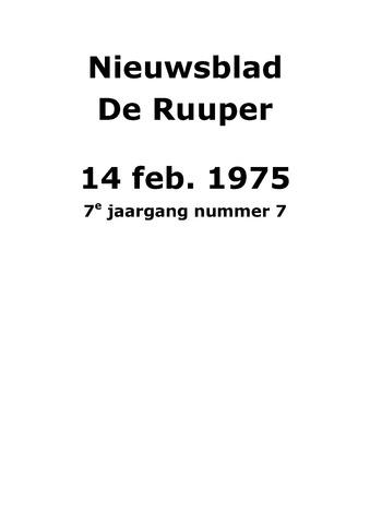 Dorpsblad Leunen-Veulen-Heide 1975-02-14