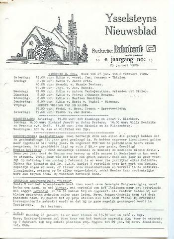 Ysselsteyns Nieuwsblad 1980-01-25