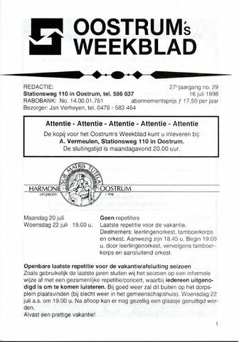 Oostrum's Weekblad 1998-07-16