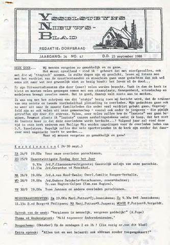 Ysselsteyns Nieuwsblad 1988-09-23