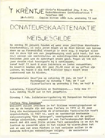 Oirlo's dorpsblad 't Krèntje 1972-01-28
