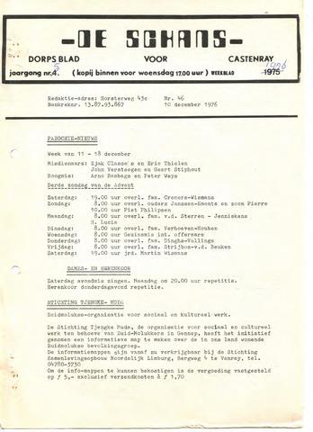 Castenrays dorpsblad De Schans 1976-12-10