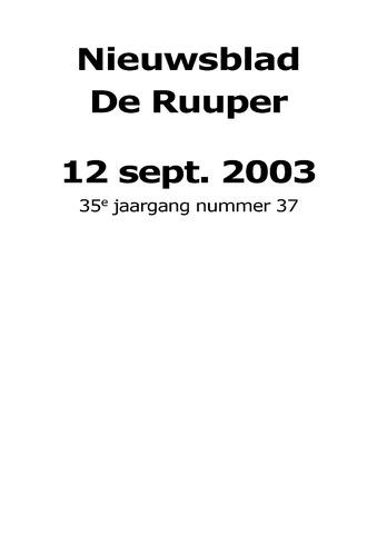 Dorpsblad Leunen-Veulen-Heide 2003-09-12