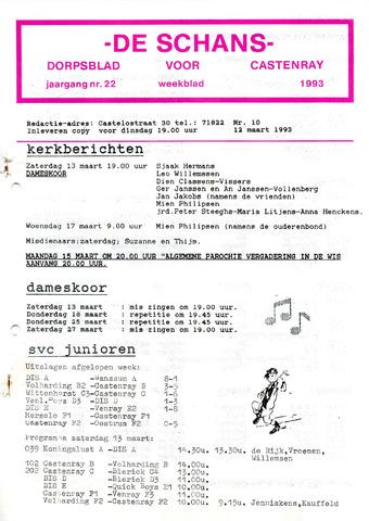 Castenrays dorpsblad De Schans 1993-03-12