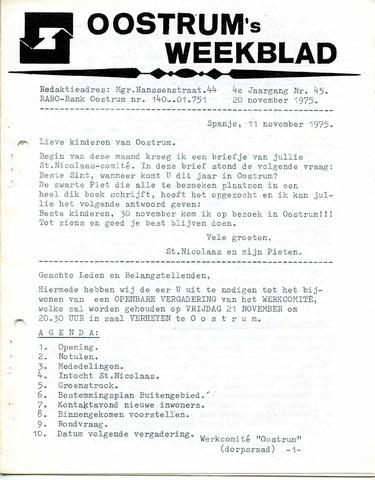 Oostrum's Weekblad 1975-11-20