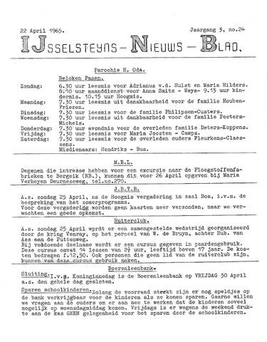 Ysselsteyns Nieuwsblad 1965-04-22