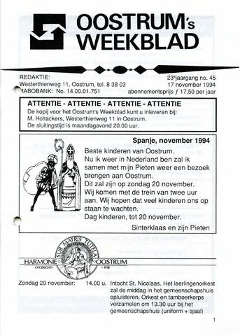Oostrum's Weekblad 1994-11-17