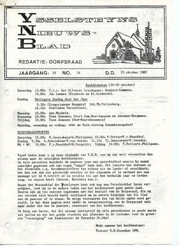 Ysselsteyns Nieuwsblad 1987-10-23