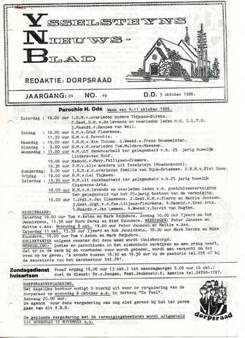 Ysselsteyns Nieuwsblad 1986-10-03