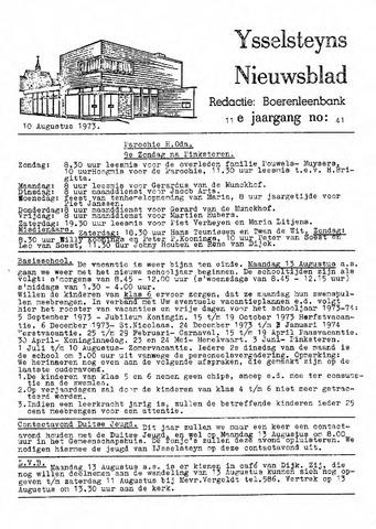 Ysselsteyns Nieuwsblad 1973-08-10