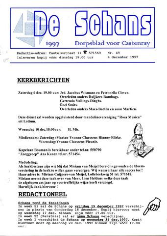 Castenrays dorpsblad De Schans 1997-12-04