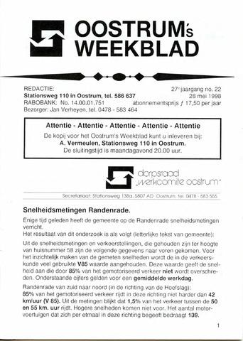 Oostrum's Weekblad 1998-05-28