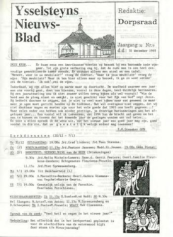 Ysselsteyns Nieuwsblad 1993-12-31