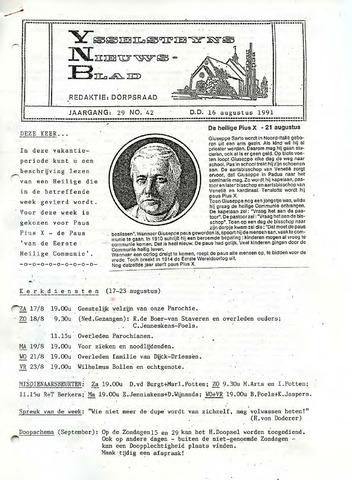 Ysselsteyns Nieuwsblad 1991-08-16