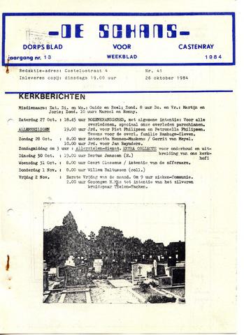 Castenrays dorpsblad De Schans 1984-10-26