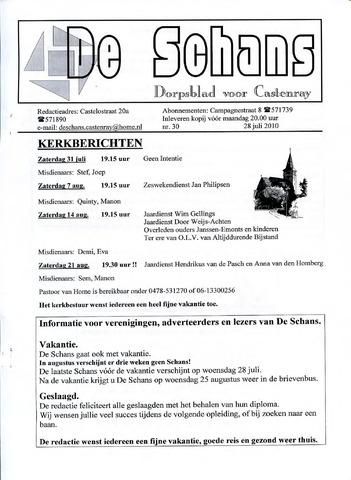 Castenrays dorpsblad De Schans 2010-07-28