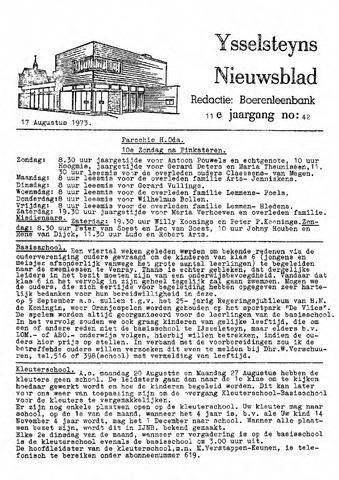 Ysselsteyns Nieuwsblad 1973-08-17