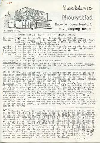 Ysselsteyns Nieuwsblad 1977-03-04