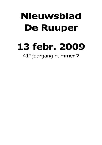 Dorpsblad Leunen-Veulen-Heide 2009-02-13