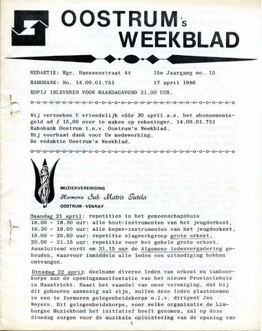 Oostrum's Weekblad 1986-04-17